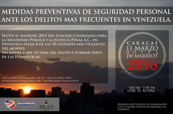 Evento: Medidas Preventivas de Seguridad Personal ante los Delitos más frecuentes en Venezuela