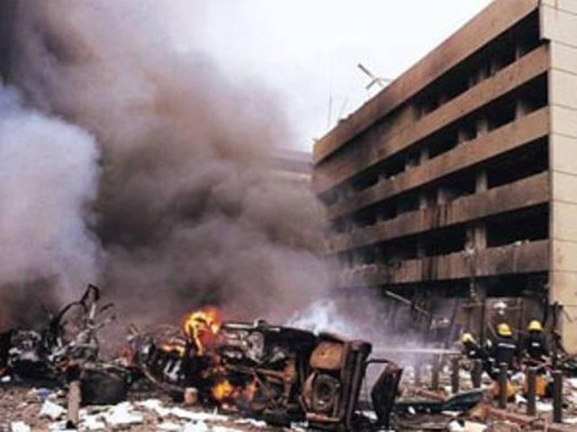Bomba en la embajada de E.U en Nairobi